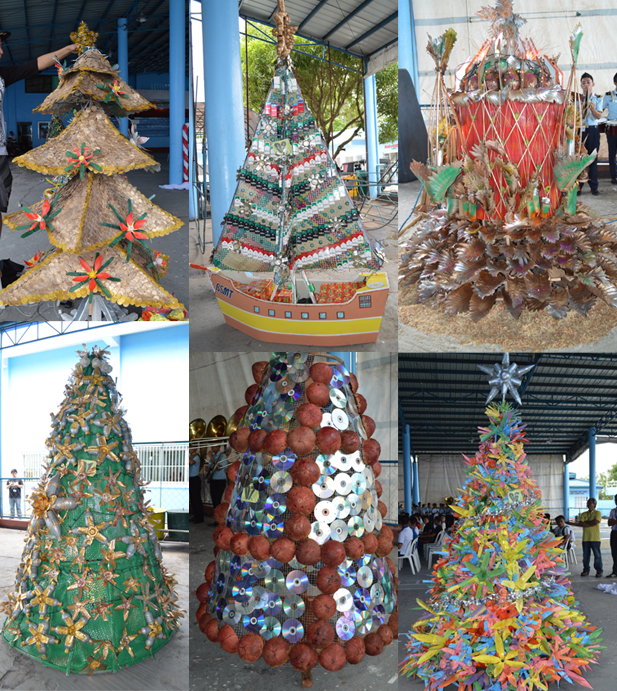 Mariners legazpi Christmas tree ideas using recycled materials